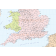 Vector British Isles UK map, Basic Country level @5,000,000 scale in Illustrator and PDF formats. South England detail.