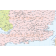 Vector British Isles UK map, Basic Country level @5,000,000 scale in Illustrator and PDF formats. South England detail 2.