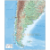 Vector map. Argentina Political Country Map plus land and ocean floor relief contours