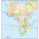 Digital vector map of Africa. Simple Continent Country map with drop shadow turned off