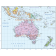 Vector World Map collection, Illustrator CS format, Political style. Australasia Basic map