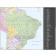 Digital vector Brazil Deluxe Country Road & Rail Map showing layering with road and rail off, Royalty free.