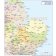 Digital vector East England map. County Administrative @1,000,000 scale