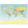 Digital vector world map Miller projection in Illustrator format.