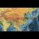NAVY BLUE Push Pin Travel World Canvas - Navy Standard Size Large 90cmx60cm Asia