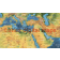 Push Pin World Travel Map NAVY BLUE Decor Canvas - Physical & Political Large 140cmx90cm Africa
