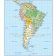 Digital vector South America Political map with sea contours turned off