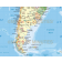 Vector South America map with sea contours detail 2