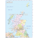 Vector Scotland Regions Map with high res Old style colour relief showing Political option.