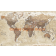 Push Pin World Travel Map NEUTRAL SAND Detailed Canvas - Physical & Political Large 140cmx90cm Pinboard/Pushpin