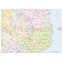 Digital vector Tanzania Country map in Illustrator format, detail 2
