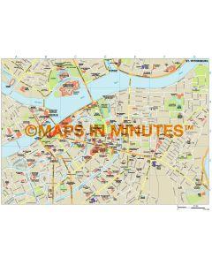 St Petersburg city map in Illustrator CS or PDF format