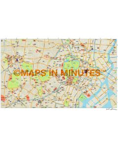 Tokyo city map in Illustrator CS or PDF format
