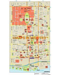 Toronto city map in Illustrator CS or PDF format