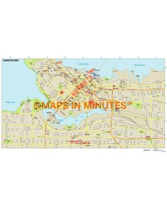 Vancouver city map in Illustrator CS or PDF format