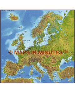 Europe 4M scale Strong colour Relief Map
