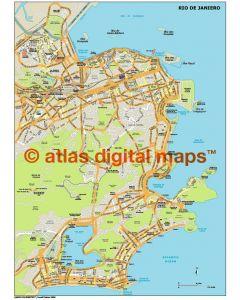 Rio de Janiero city map in Illustrator CS or PDF format