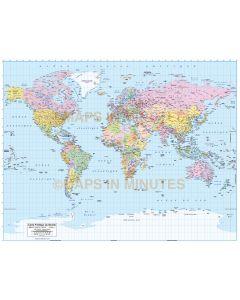 digital vector map of the world in french, Carte Politique du Monde française