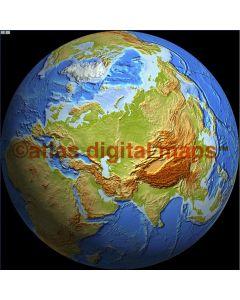 Relief Globe 50N 60E