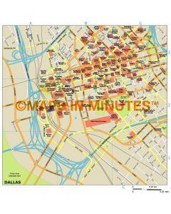 Dallas city map in Illustrator CS or PDF format