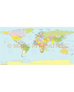 Plate Carrée Projection @100m scale UK centric world map