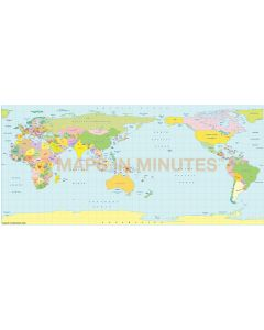 Pavlov Projection @100m scale Japan centric centric world map