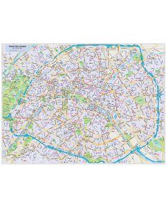 Paris city map (style 2) in Illustrator CS or PDF format