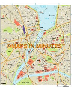 Geneva city map in Illustrator CS or PDF format