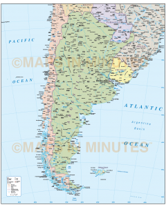 Argentina Political Country map