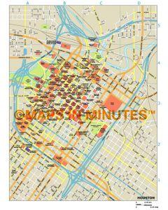 Houston city map in Illustrator CS or PDF format