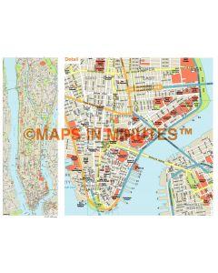 Manhattan Island map