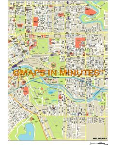 Melbourne city map in Illustrator CS or PDF format