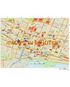 Montreal city map in Illustrator CS or PDF format