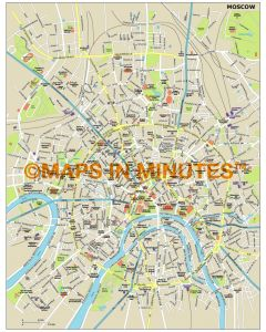 Moscow city map in Illustrator CS or PDF format