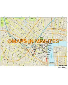 New Orleans city map in Illustrator CS or PDF format