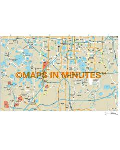 Orlando city map in Illustrator CS or PDF format