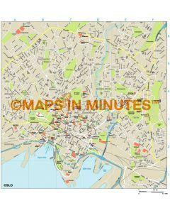 Oslo city map in Illustrator CS or PDF format