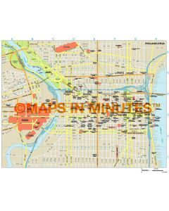 Philadelphia city map in Illustrator CS or PDF format
