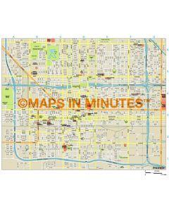 Phoenix city map in Illustrator CS or PDF format