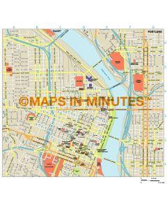 Portland city map in Illustrator CS or PDF format