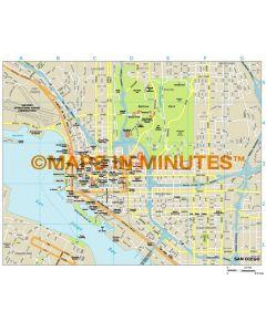 San Diego city map in Illustrator CS or PDF format
