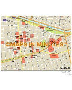Santiago city map in Illustrator CS or PDF format