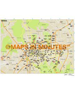Seoul city map in Illustrator CS or PDF format