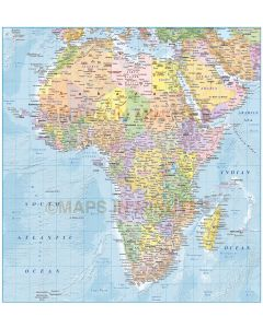 Africa Political vector map with Country colour relief option