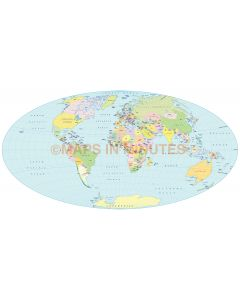 Vector World Map, Aitoff projection @100m scale UK centric
