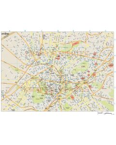 Athens city map in Illustrator CS or PDF vector formats