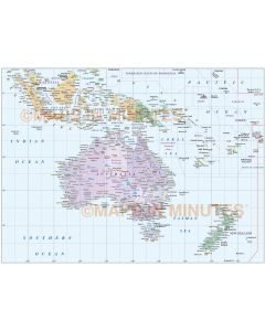 Vector Australasia Region Country map.