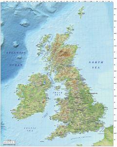 5M scale British Isles Regular Relief map