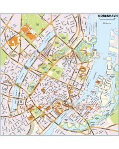 Copenhagen (København) city map in Illustrator or PDF format