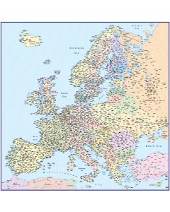 Vector Europe map, Political Illustrator and PDF formats @4,000,000 scale